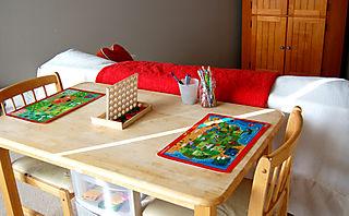 Homeschool classroom table1