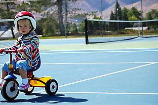 Tennis laurel riding bike1