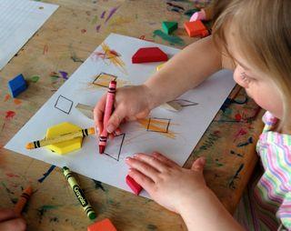Homeschooling report laurel's shapes2009-04-06