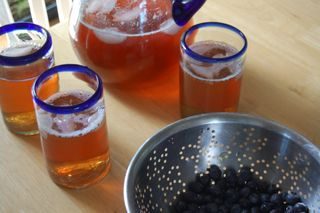 Iced tea and blueberries2009-05-15