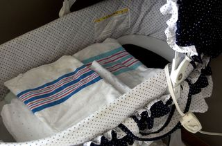 Homebirth set up blankets warming