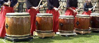 Renissance faire drummers