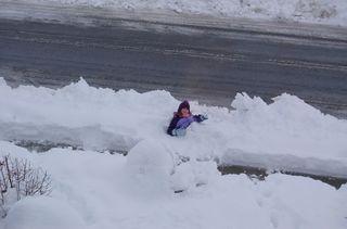 It snowed a lot