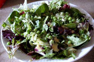 Mint pea salad