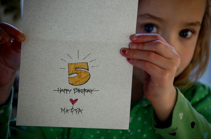 Laurel's card inside