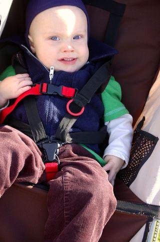 Ian in stroller