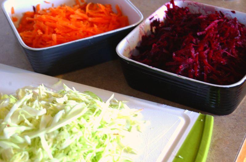 Ingredients for borscht