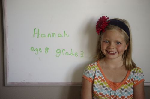 First day of school 2011 hannah