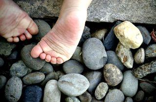 Little feet in the rocks