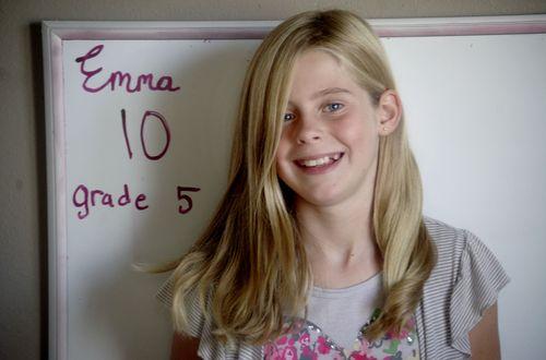 First day of school 20011 Emma
