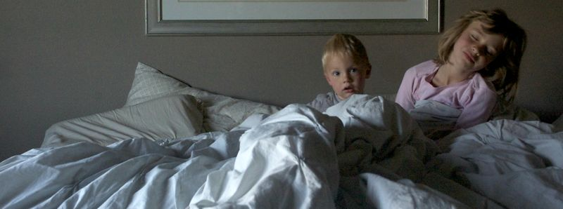 Ian and laurel in bed