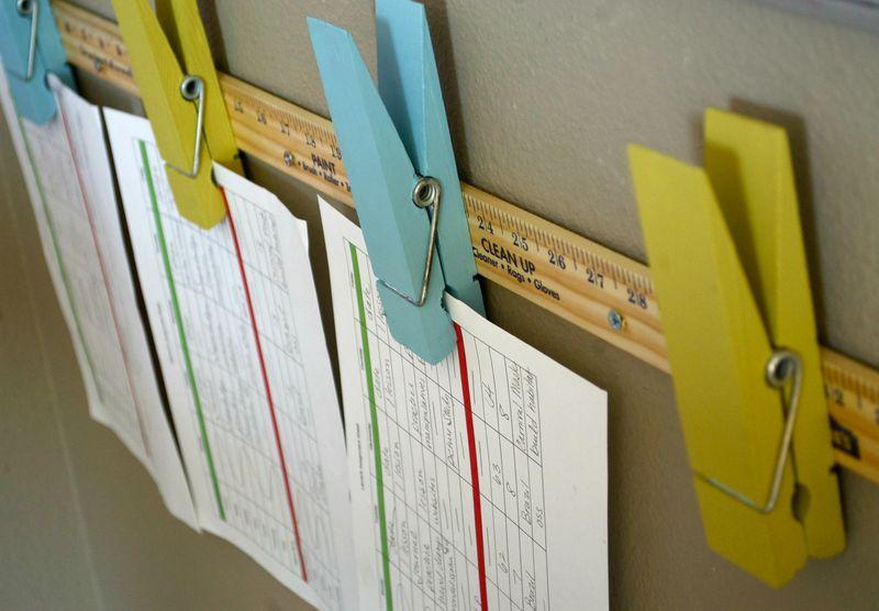 Assignment sheet clips