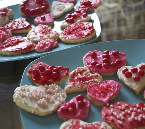 Valentines' cookies finished plate
