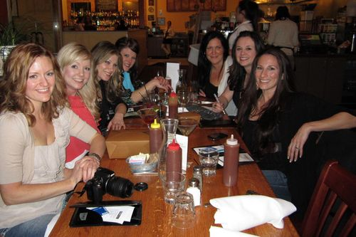 At dinner with the girls