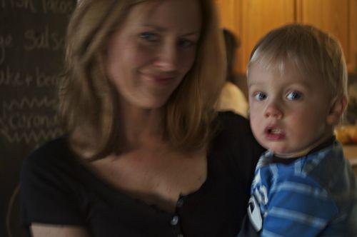 Mom and ian blurry