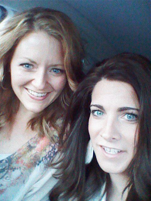 Jen and lib in car
