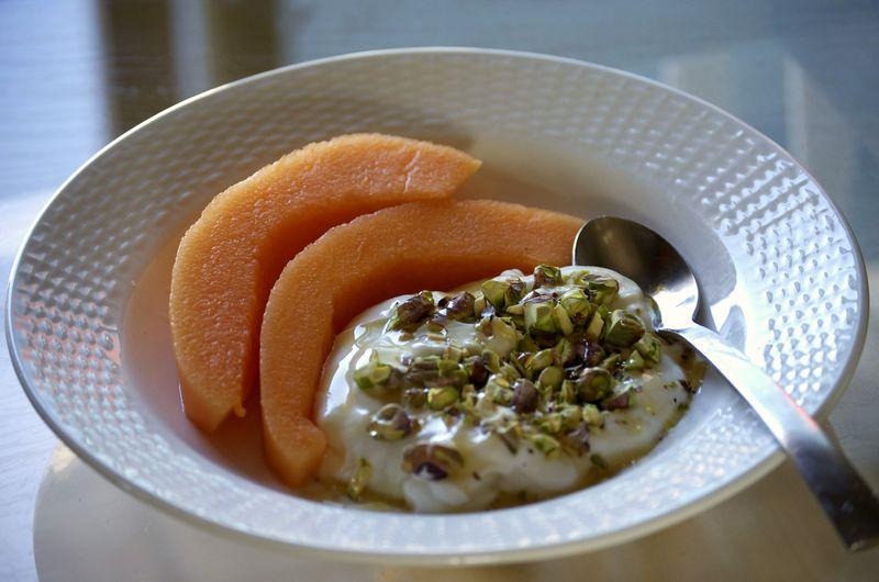 Sunday breakfast- cantelope