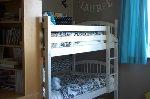 Hannah and laurel's bed