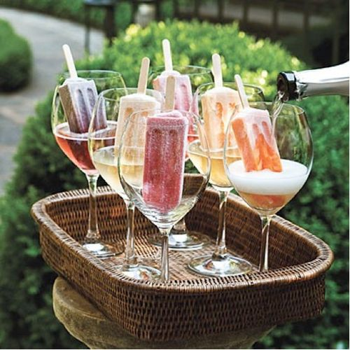 Champagne popcicles