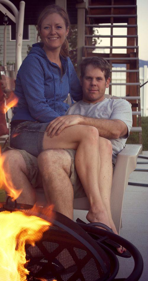 Carl and lib around fire 2