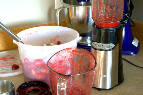 Making jam messy