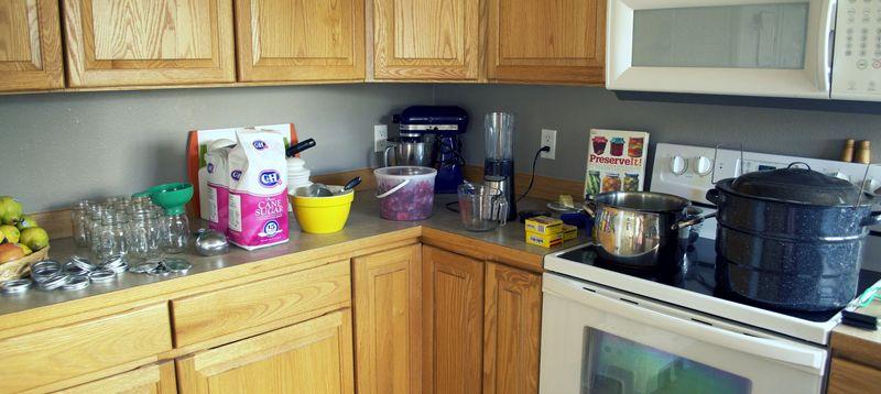 Making jam set-up