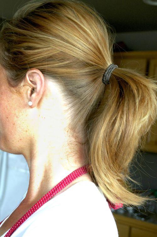 Making jam ponytail