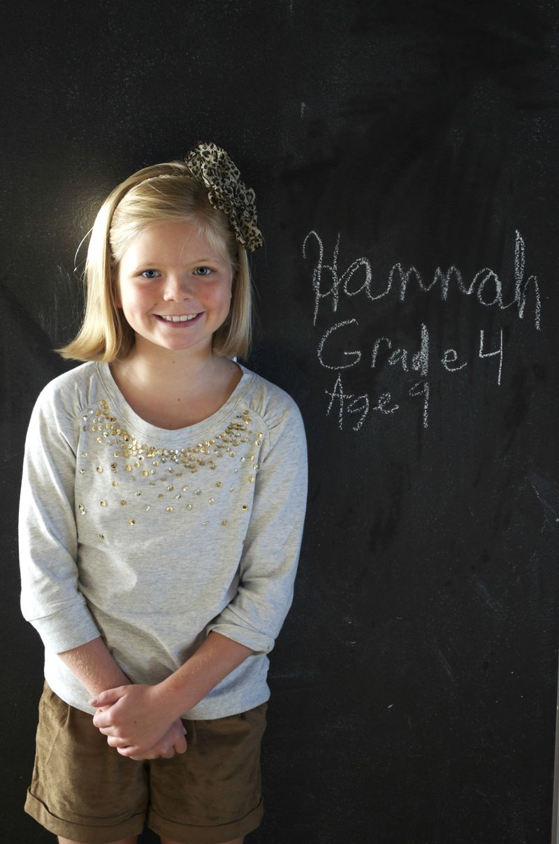 First day of school- hannah