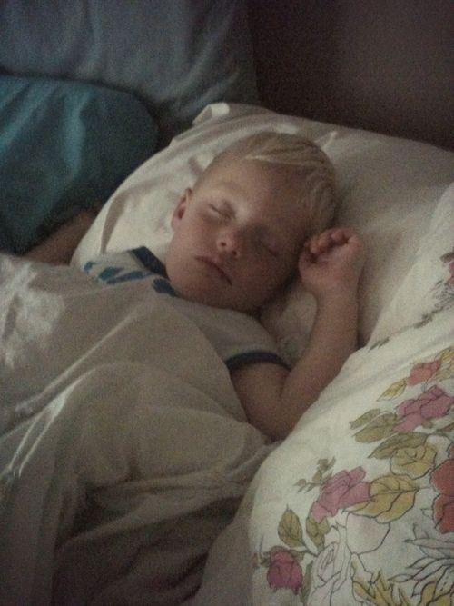 Sometimes sleeping boy