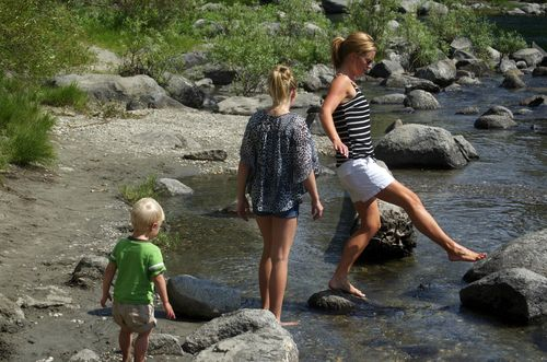 Sunday river rock hopping
