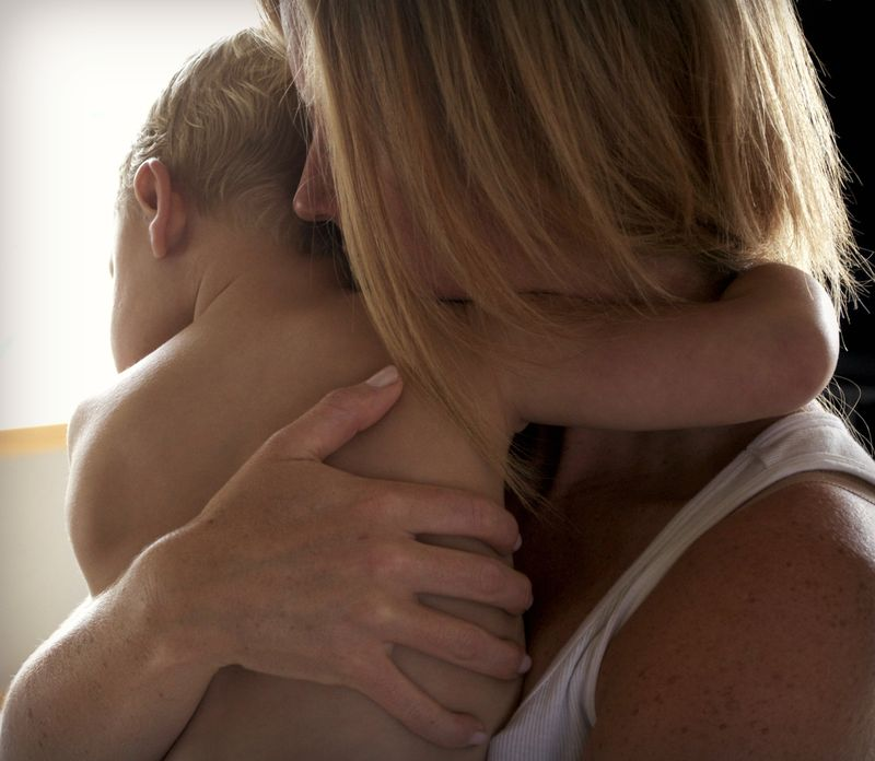 Mom hugs ian